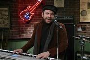 Charlie as 'Bob Dylan'