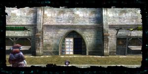Cancello del Mugnaio visto dall'interno di Vizima