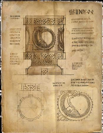 Drawing of Saskia's chalice