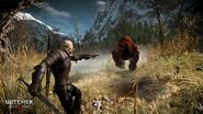 Tw3 e3 2014 screenshot - Geralt shooting his crossbow