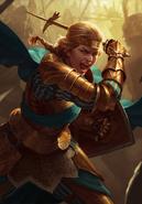 Gwent cardart northern meve warhammer