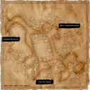 Map Old Manor catacombs entrances