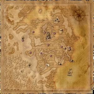 Mappa con la distribuzione dei monoliti