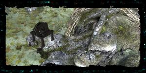 ingresso alla vecchia miniera