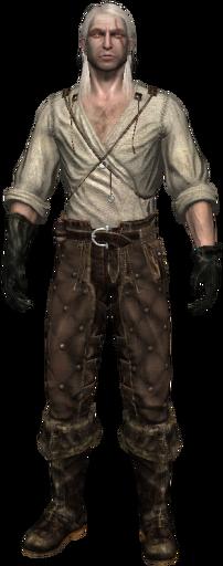 Geralt senza armatura