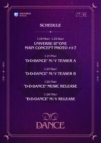 D-D-DANCE Schedule