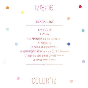 COLOR*IZ Tracklist