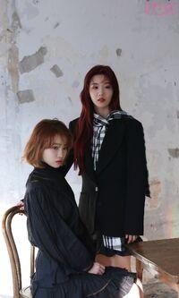 Eunbi Chaewon Marie Claire Behind5