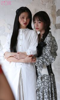 Wonyoung Yuri Marie Claire Behind2