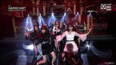 IZ*ONE Intro La Vie en Rose 8th Gaon Chart Music Awards 2018 HD1080p 60fps (190123)
