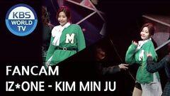 FOCUSED IZ*ONE's KIM MIN JU - La Vie en Rose Music Bank 2018.11