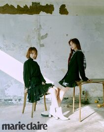 Eunbi and Chaewon Marie Claire May Edition