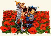 Страшила и Железноый Дровосек спасают Тотошку и Элли от Коварного макового поля.jpg