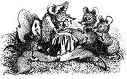 Бабушка мышь и её правнучки. Илл. Виктора Бахтина