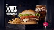 """JACK IN THE BOX WHITE CHEDDAR CHEESEBURGER COMBO """"CAT CAFE"""""""
