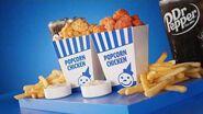 Popcorn Chicken Combo Classic & Spicy $4