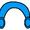 Light Blue Headphones