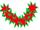 Poinsettia Lei