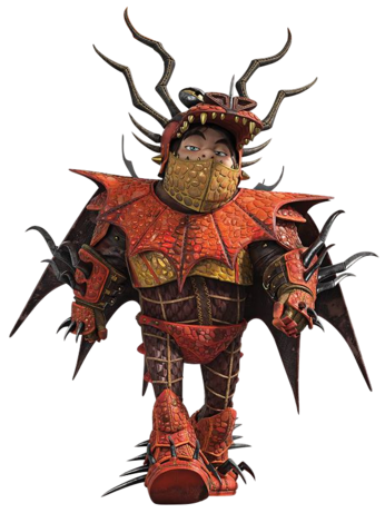 Snotlout, 21, in dragon armor.png