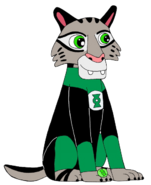 DJ as Green Lantern