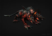 Tonywork-god-of-war-3-fire-cerberus