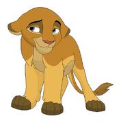 Courtney as a Lion Cub