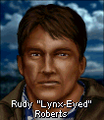 Rudy lynx-eyed roberts face