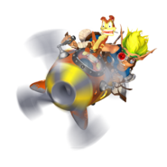 Jak and Daxter on the A-Grav Zoomer promo render