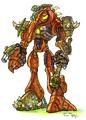 Gol and Maia's Precursor robot concept art