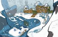Snowy Mountain concept art