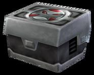 Metal crate render