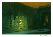 Haven sewers concept art for Jak II