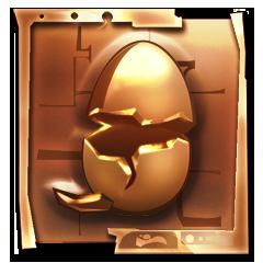 Push the flut flut egg off the cliff