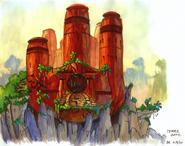 Forbidden Temple concept art
