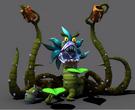 Dark eco plant render