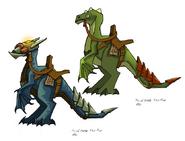 Leaper lizard concept art