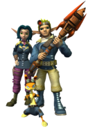 Jak, Daxter and Keira from TLF render