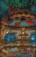 Mayor's hut concept art