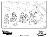 Flynn with Jake&crew - Cubby's Tall Tale Coloring Page