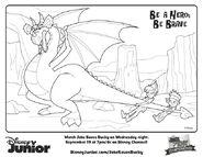 PeterJake&dragon-Jake Saves Bucky