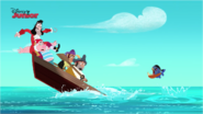 Captain Hook Smee Sharky and Bones with a Pirate Piranha - Attack of the Pirate Piranhas