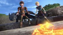 Hiccup and Astrid and their reaction to a fireworm