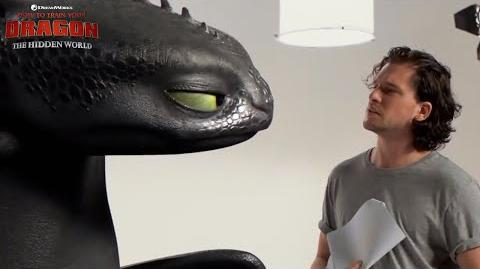 "HOW TO TRAIN YOUR DRAGON THE HIDDEN WORLD Toothless & Kit Harrington - ""Fire"""