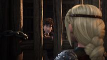 Hiccup asking Astrid what she is in for
