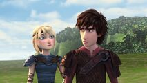 Astrid and Hiccup reacting to what the twins are saying
