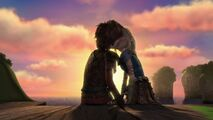 Astrid and Hiccup kissing Blindsided 2