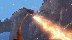 Tajfumerang zieje potężnym strumieniem ognia