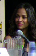 Зои Салдана Создатели фильма на фестивале 2009 San Diego Comic-Con International