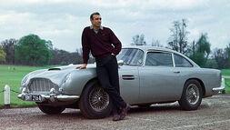 Sean Connery with 1964 Aston Martin DB5