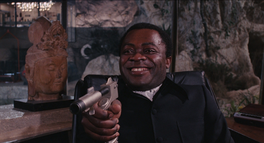 Live and Let Die - Kananga threatens Bond with his own weapon